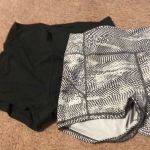 2 lululemon tight shorts size 10